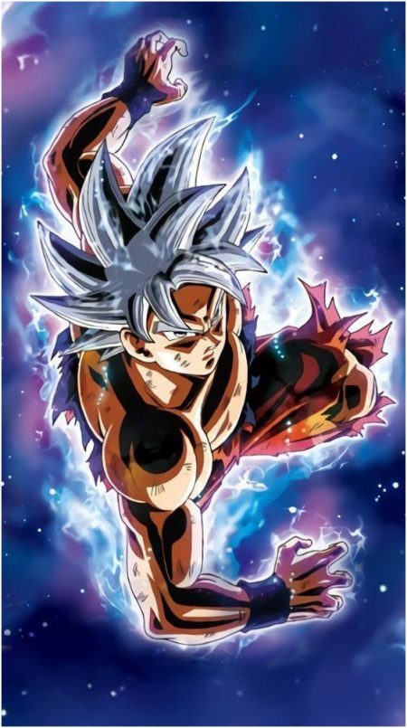 San Goku Ultra Instinct Wallpaper Pour Téléphone