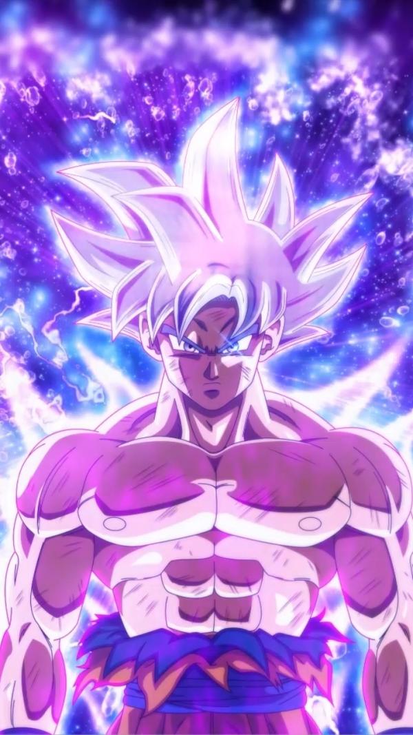 Goku Ultra Instinct Violet Et Bleu Fond D'écran